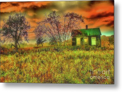 Storm At The Old Homestead Metal Print by Matthew Winn