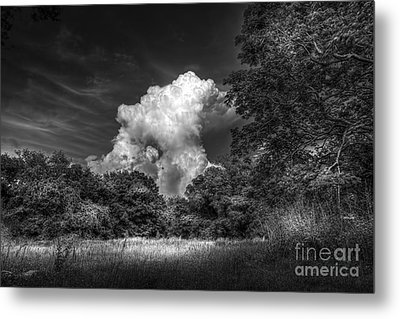 Storm Beyond The Meadow Metal Print by Marvin Spates