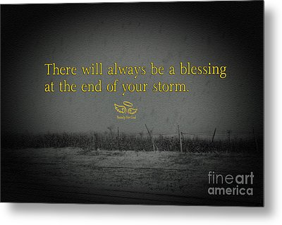 Storm Blessings Metal Print