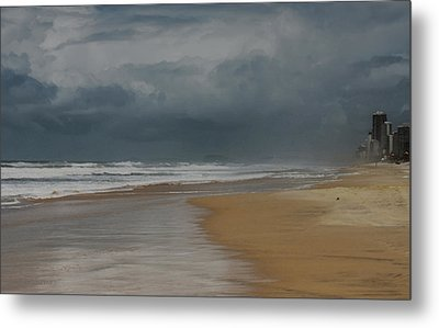 Storm Brewing On The Gold Coast Metal Print