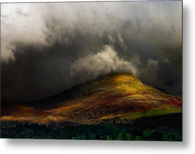 Storm Brewing Over Hawkshead Metal Print