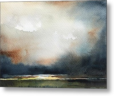 Storm Brewing Metal Print by Stephanie Aarons