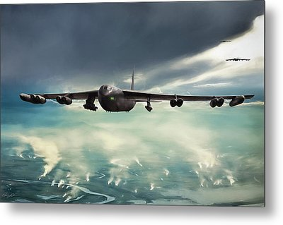 Metal Print featuring the digital art Storm Cell by Peter Chilelli