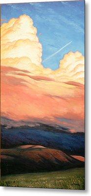Storm Clouds And Sunsets Metal Print by Erik Schutzman