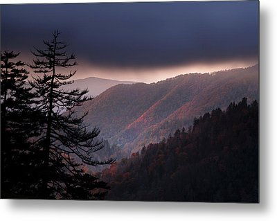 Storm Clouds At Sunrise Metal Print