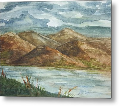 Metal Print featuring the painting Storm Clouds by Ellen Levinson