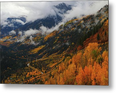 Metal Print featuring the photograph Storm Clouds Over Mcclure Pass During Autumn by Jetson Nguyen