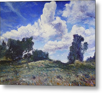 Storm Clouds Over Monte Cardeto Lazio Italy 2009 Metal Print by Enver Larney
