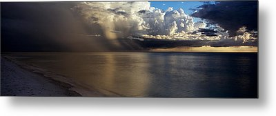 Storm Clouds Over The Sea Metal Print by Panoramic Images