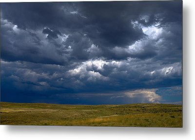 Metal Print featuring the photograph Storm Clouds To The East by Monte Stevens