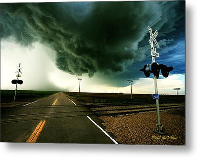 The Rough Road Ahead Metal Print by Brian Gustafson