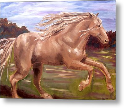 Metal Print featuring the painting Storm by Diane Daigle
