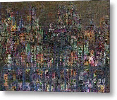 Storm In The City  Metal Print by Andy  Mercer