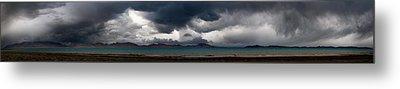 Storm On Karakul Lake. Panorama Metal Print by Konstantin Dikovsky