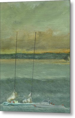 Storm On The Horizon-detail Metal Print by Perry Ashe
