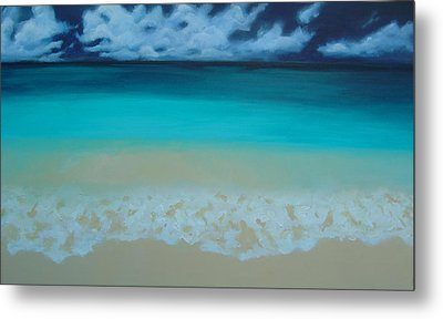 Storm On The Horizon Metal Print by Nicole Lee