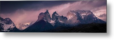 Metal Print featuring the photograph Storm On The Peaks by Andrew Matwijec