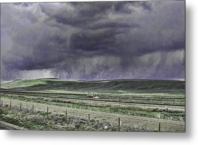 Storm Over Monida Pass  Metal Print