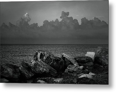 Storm Over Roda- Greece Metal Print by Cambion Art