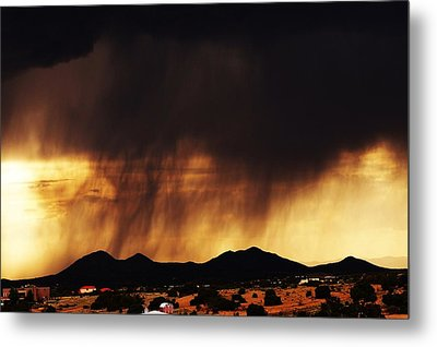 Storm Over The Mountains Metal Print by Joseph Frank Baraba