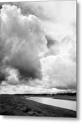 Storm Over The River Metal Print