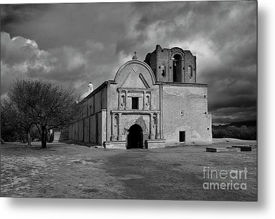 Metal Print featuring the photograph Storm Over Tumacacori II by Sandra Bronstein