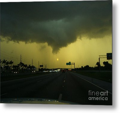 Metal Print featuring the photograph Storm Overhead by Merton Allen