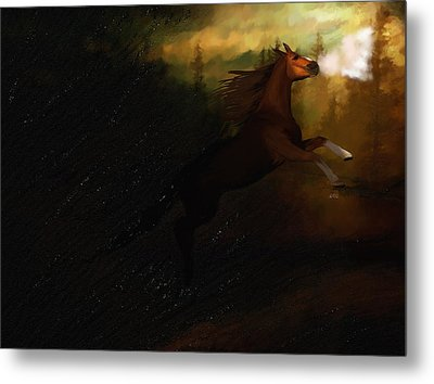 Storm Spooked Metal Print by Angela A Stanton