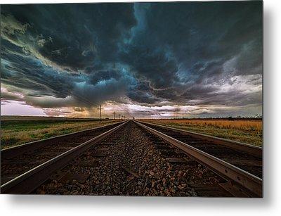 Storm Tracks Metal Print by Darren  White