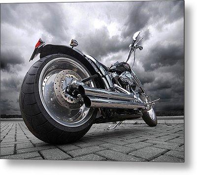 Storming Harley Metal Print