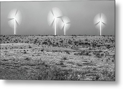 Storms And Halos Bw Metal Print