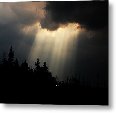 Storms And Sun Rays Metal Print