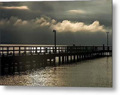 Storms Brewin' Metal Print by Clayton Bruster