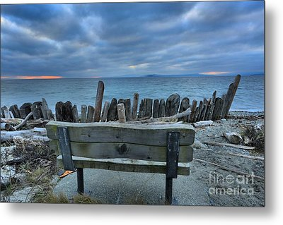 Storms Over Goose Spit Metal Print