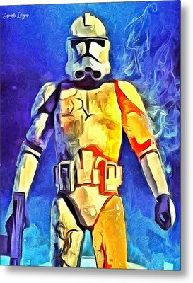 Stormtrooper Commander - Da Metal Print by Leonardo Digenio