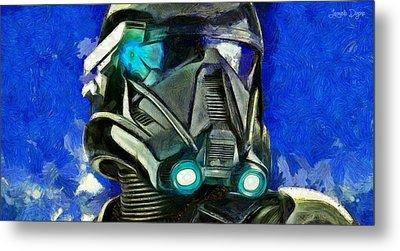 Stormtrooper Of Future - Pa Metal Print by Leonardo Digenio