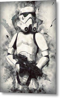 Stormtrooper Metal Print by Taylan Apukovska