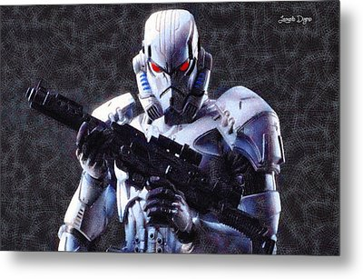 Stormtrooper Terminator - Da Metal Print by Leonardo Digenio
