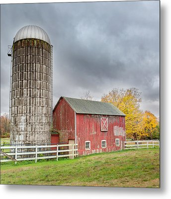 Stormy Autumn Skies Square Metal Print by Bill Wakeley