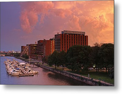 Metal Print featuring the photograph Stormy Boston by Juergen Roth