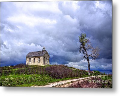 Stormy Day At Lower Fox Creek School Metal Print by Jean Hutchison