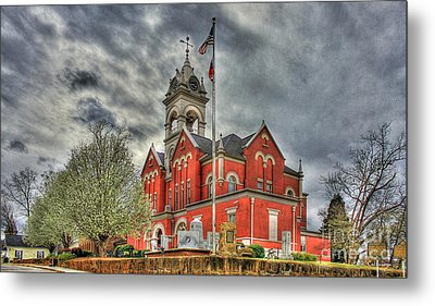 Stormy Day Jones County Georgia Court House Art Metal Print