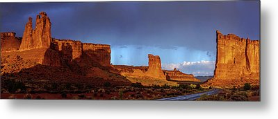 Metal Print featuring the photograph Stormy Desert by Chad Dutson