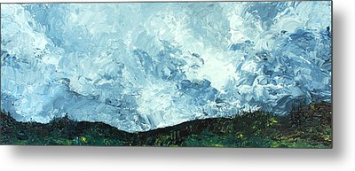 Metal Print featuring the painting Stormy by Jane Autry