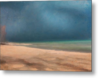 Stormy Lake Huron 2 Metal Print by Chamira Young