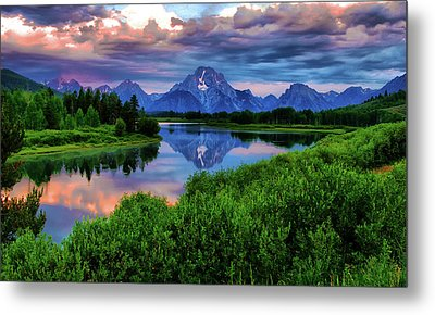 Stormy Morning In Jackson Hole Metal Print