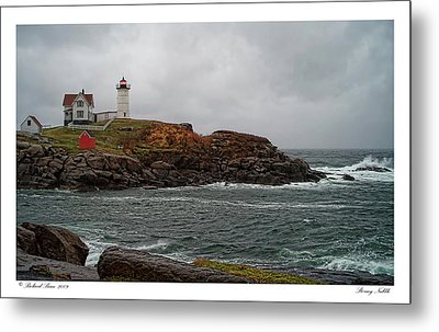 Metal Print featuring the photograph Stormy Nubble by Richard Bean