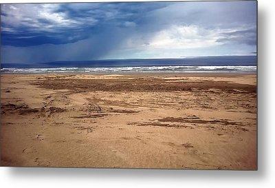 Stormy Nye Beach Metal Print