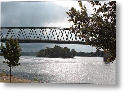 Stormy Ohio River Metal Print