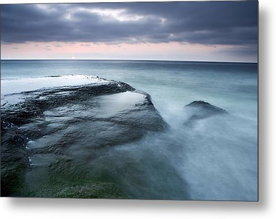 Stormy Shore Metal Print by Eric Foltz
